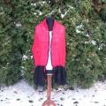Handmade crocheted scarf '' Red - black'' - Scarves & shawls - knitwork