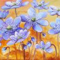violets 35x30, oil painting - Oil painting - drawing