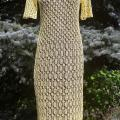 Lace linen/falx dress - Dresses - knitwork