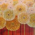 Sunflower 120x35, oil / canvas. - Oil painting - drawing