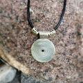 Pendant Silver round with onyx. - Metal products - making
