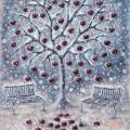 Winter cherry 55x75, oil on canvas. - Oil painting - drawing