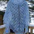 "Shawl ""Januar Fairy Tale"" - Wraps & cloaks - knitwork"