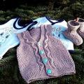 New baby handmade kit. - Children clothes - knitwork