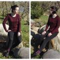 "Tunic ""Dark Burgundy color"" - Machine knitting - knitwork"