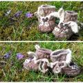 Crochet baby shoes RABBIT - Shoes - needlework