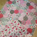Handmade quilt for a girl - For interior - sewing