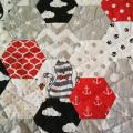 Handmade quilt for a girl 2 - For interior - sewing