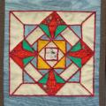 "Patchwork "" Stained glass window"" - For interior - sewing"