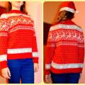 "Sweater ""Christmas elk dance"" - Sweaters & jackets - knitwork"