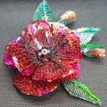 brooch-Red Poppy - Brooches - beadwork