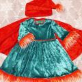 Gnome carnival costume for Girl with mantle - Other clothing - sewing