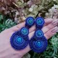 Unique handmade earrings. 03 - Soutache - making