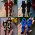 Unique handmade earrings. 07 - Soutache - making
