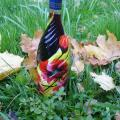 Poppies - Decorated bottles - making