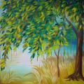 Autumn color - Oil painting - drawing