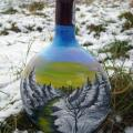 Winter - Decorated bottles - making